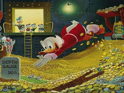 Scrooge McDuck's Swimming Pool