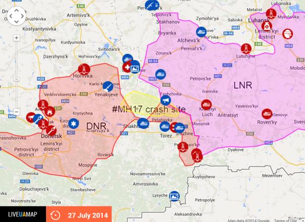 Eastern Ukraine Crash-site